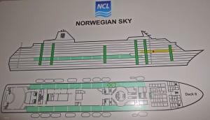 Norwegian Sky room location