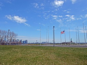 view of the south part of Liberty State Park