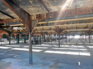 abandoned train tracks @ Central Railroad of New Jersey Terminal
