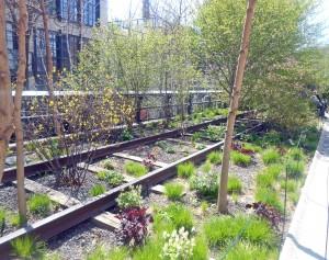 rail tracks @ The High Line