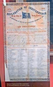 South Carolina's Declaration of Independence