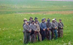 living history group at Gettysburg Battlefield