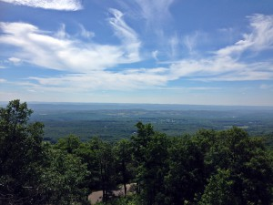 view from summit of High Point