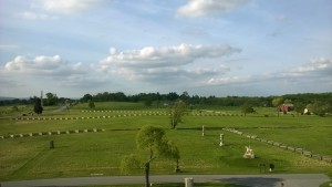 view from Pennsylvania Monument at Gettysburg