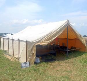 German reenactment camp