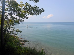 boat on Lake Ontario